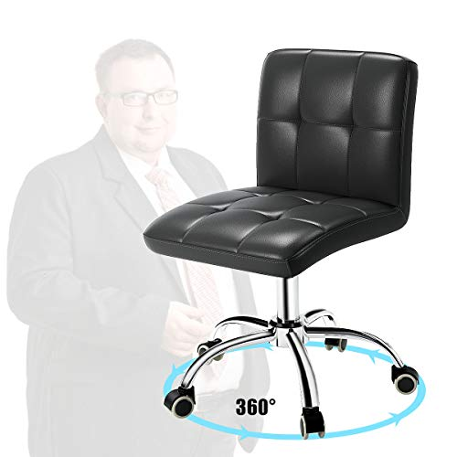360° Office Desk Chair,PU Adjustable Rolling Task Chair with Backrest for...