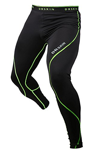 DRSKIN Compression Tight Pants Base Layer Running Leggings (Twin B-LG01 XL)