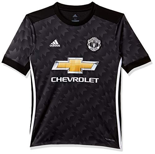 adidas MUFC A JSY Y Camiseta 2ª Equipación Manchester United FC, niños, Negro/Blanco/Granit, 128