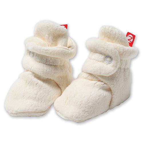 Zutano Kids' Unisex-Baby Newborn Cozie Fleece Bootie, Cream, 6 Months