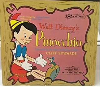 Walt Disney's Pinocchio, Narrated by the Voice of Jiminy Cricket, Cliff Edwards. Also, Prokofieff's Peter and the Wolf, Narrated by Sterling Holloway. MONO not RECHANNELLED ORIGINAL LP