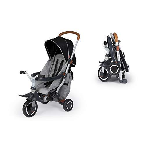 Smoby, 2-in-1 Dreirad Robin, faltbarer Kinderwagen und Dreirad, leicht verstaubar, mit Überdachung, Sicherheitsgurt, für Kinder ab 6 Monaten
