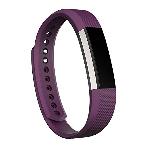 Fitbit Alta Wireless Activity and Fitness Tracker Smart Wristband, Plum, Large (6.7-8.1 in) (Renewed)