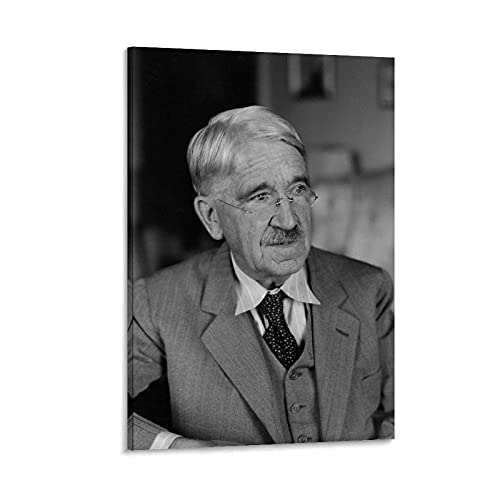 Huhuhu John Dewey, fondatore della pedagogia moderna, stampa artistica su tela e stampa artistica da parete, 50 x 75 cm