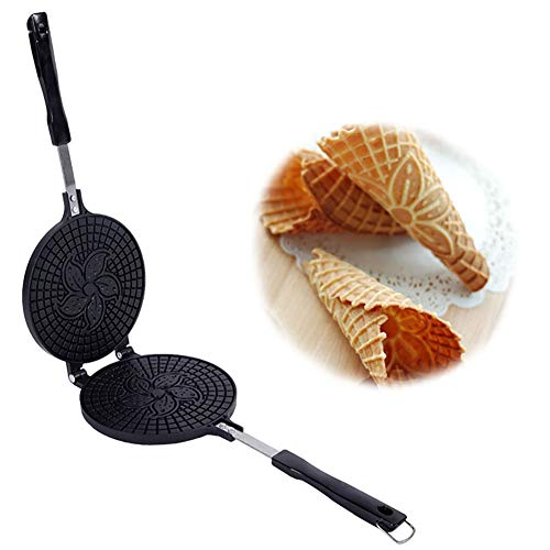 Best Prices! Waffle Maker,Egg Roll Mode Non-Stick Omelet Waffles for The Baking Pan Cake Aluminium A...