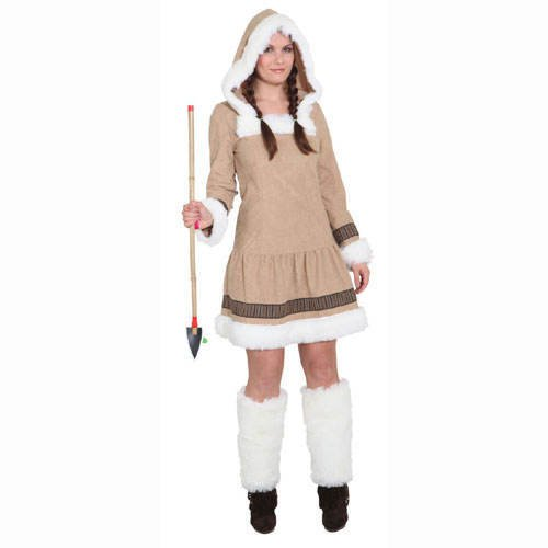 PARTY DISCOUNT ® Damen-Kostüm Eskimo Girl de Luxe, Gr. 38