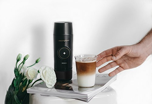 PRESSOPUMP Cordless Espresso Maker (Automatic)   Mini Espresso Coffee Machine   Perfect Gift for Home, Outdoors and Office   Black