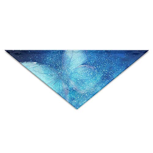 Nifdhkw Universe Filled with Stars, Butterfly Turban Triangle Scarf Bib Scarf Accessories Pet Cat And Baby Puppy Saliva Dog Towel