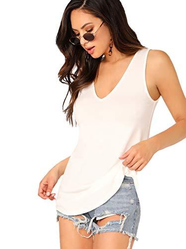Soly Hux - Camiseta sin mangas para mujer, cuello en V, estilo...