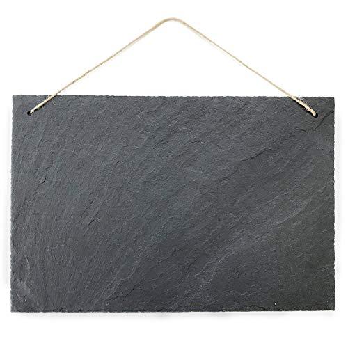 Schiefertafel Kreidetafel zum beschriften und aufhängen Vintage Deko Schieferplatte für Küche, Garten, Tisch 30x20 cm groß quer