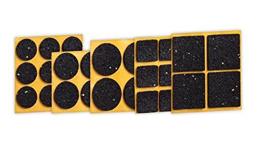 haggiy Anti-Rutsch-Pad (Rutschhemmer für Möbel, Sofas, Tische), selbstklebend, SET Complete - rund & eckig (30-teilig)