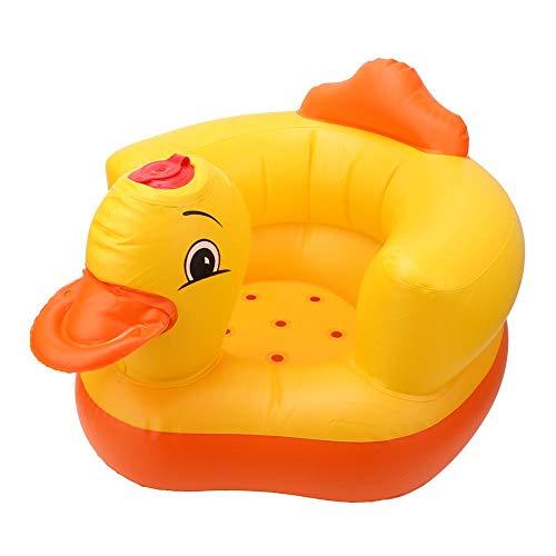 VGEBY Sedia Gonfiabile per Bambini Yellow Duck Sedia Gonfiabile per Bambini Divano per Bambini Sgabello da Bagno 60KG capacità portante(Ovale,...