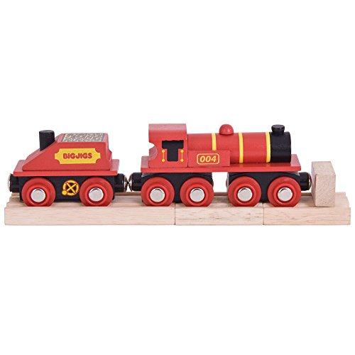 Bigjigs Rail Big Red Engine - Compatible avec d'autres Grandes Marques de Rails en Bois