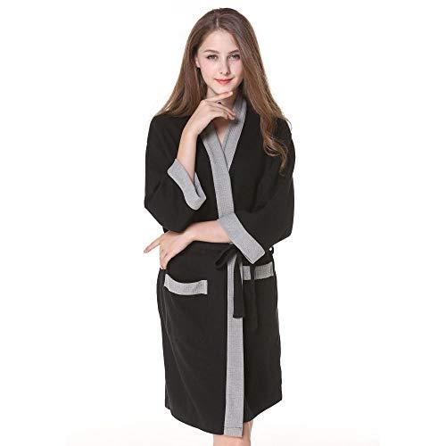 TaoRan Dames Robe Sauna Badjas Katoen Dames Wafel Badjas Sweat Sauna Handdoek warme Lente