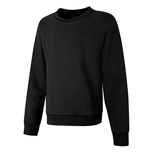Hanes Girls' Big EcoSmart Graphic Sweatshirt, Black, L