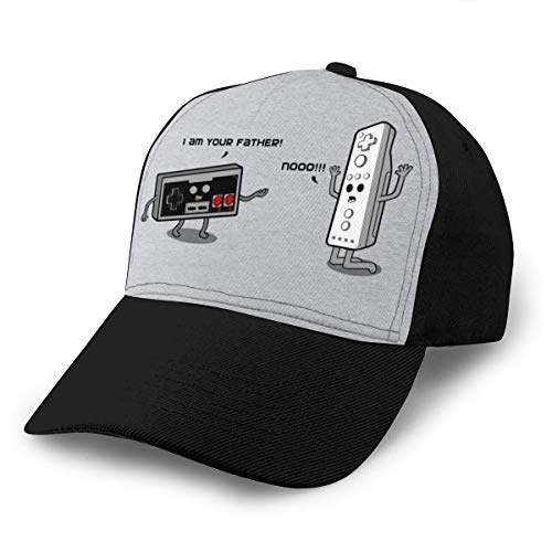 Baseball Cap I Am Your Father NES and Wii Controller Dad Hat Verstellbar Atmungsaktiv Für Herren Damen Snapback Trucker Cap Schwarz