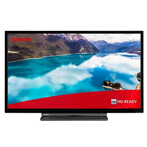 Toshiba 32WD3A63DB 32-Inch HD Ready Smart TV with Freeview Play and Buil-In DVD Player - Chrome Black/Silver (2019 Model) (Renewed)