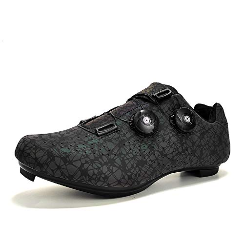 BETOOSEN Breathable Road Bike Cycling Shoes MTB Bicycle Shoes Mens Womens with Quick lace Self-Locking Compatible SPD Cleats (7.5 M US Women/6.5 M US Men, Colorful)