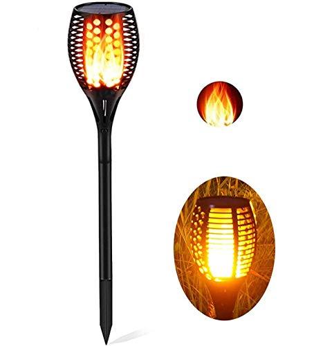 TaoTronics Solarleuchte Garten-Fackeln 1 Stück Solar Gartenleuchte Solar Garten Beleuchtung Garten Licht, Solarlampe mit realistischen Flammen und IP65 wasserdicht