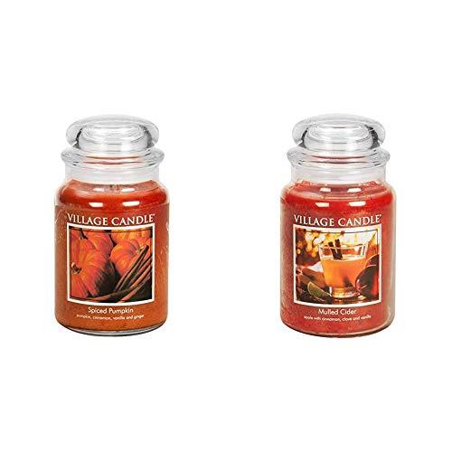 Village Candlevillage Candle Spiced Pumpkin 26 Oz Glass Jar Scented Candle Large Mulled Cider 26 Oz Glass Jar Scented Candle Large Dailymail