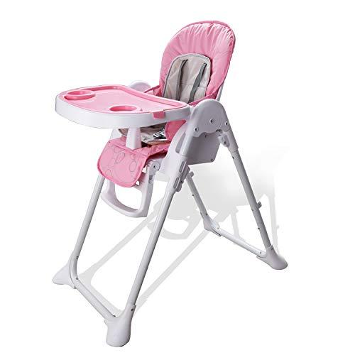 Hengda Hochstuhl Höhenverstellbar Kinderhochstuhl mit 5-Punkt Sicherheitsgurt mit liegefunktion Kinderstuhl Erfüllt europäische Sicherheitsstandards