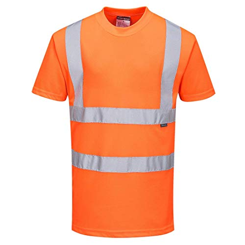PORTWEST RT23 - Warnschutz-T-Shirt nach GO/RT, 1 Stück, L, orange, RT23ORRL