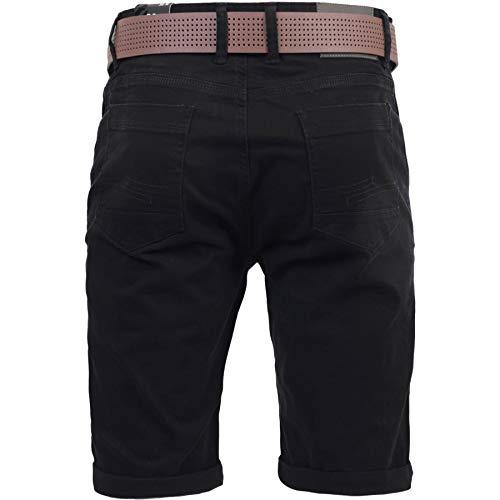 CrossHatch Delena Kurze Hose mit Gürtel für Männer (W34)