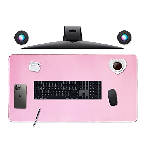 Large Gaming Mouse Pad,Home Office Décor for Women Desk Pad,Extended XL Mousepad,Desk Mats On Top of Desks,PC Accessories,Big Keyboard Pad,Mens Laptop Matt,Cover Protector,XXL Extra Long (01Pink)