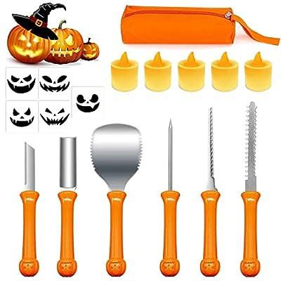 Pumpkin Carving Kit, Carve Halloween Lantern Se...