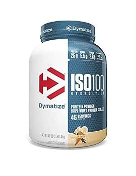Dymatize ISO 100 Whey Protein Powder with 25g of Hydrolyzed 100% Whey Isolate Gluten Free Fast Digesting Gourmet 3 Pound Vanilla 3 Pound  48 Oz