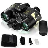 Marine Binoculars 7x50 Waterproof with Compass & Rangefinder, Military Binoculars HD, Fog Proof Sea Ocean Binoculars for Adults, Sailing, Cruising, Boating, Fishing, Bird Watching, Safari
