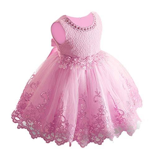 LZH Baby Girls Dress Vestidos Formales Desfile de cumpleaños Vestido de Novia de Encaje Niño