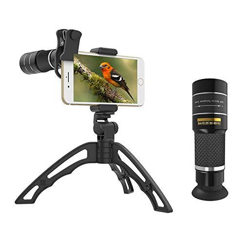 Handy-objektiv, 20x Zoom Teleobjektiv Mit Stativ, Hd-Handy-kameraobjektiv Für iPhone, Samsung, Android-Smartphone, Monokular-teleskop