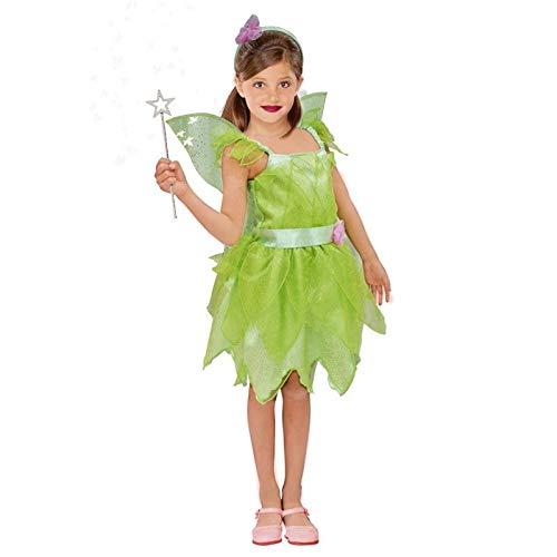 Disfraz Hada Campanilla Nia con AlasTallas Infantiles de 3 a 12 aos(Talla 10-12 aos) | Disfraces Carnaval Cuentos Personajes Fantasa Nios
