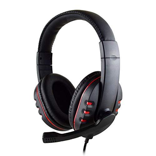 3 5mm Jack Plug Gaming Headset Earphone Headphone for PC - Red