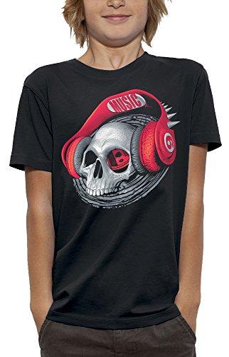 T-shirt doodskop koptelefoon DJ Beats – Pixel Evolution – kinderen