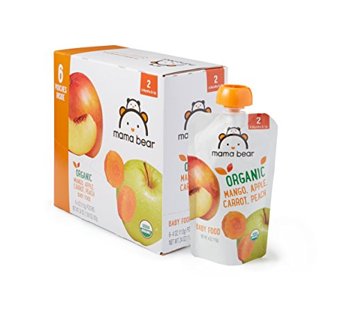 Amazon Brand - Mama Bear Organic Baby Food, Stage 2, Mango...