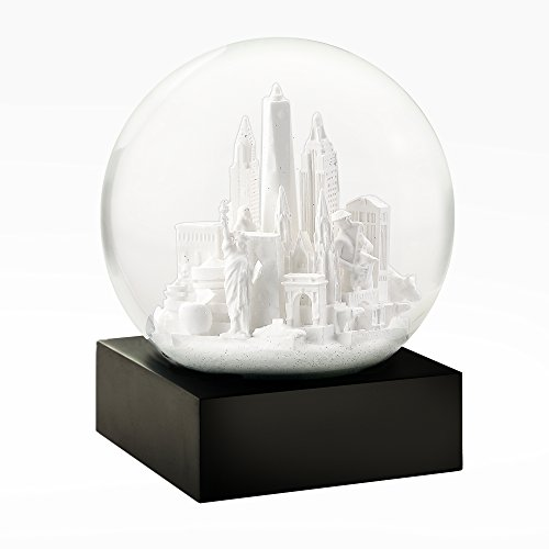 CoolSnowGlobes New York City in Weiß Schneekugel
