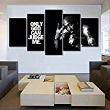 Modern 5 Pieces Rapper 2Pac Posters Wall Artwork Canvas...