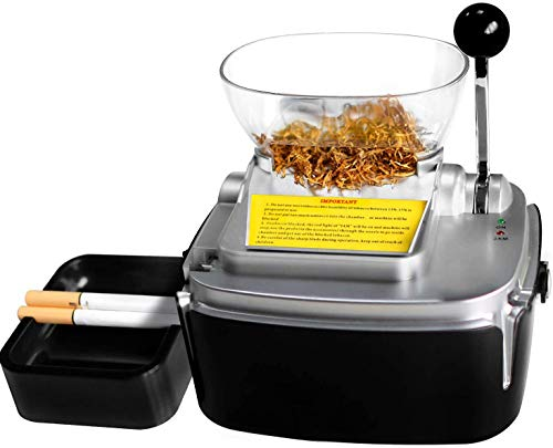 Powermatic 2 Plus Electric Cigarette Injector Machine, 8mm Pipe Tobacco Rolling Automatic Roller Maker, Giant Tobacco Hopper Automatic Cigarette Injecting Machine for Home Use … (Cigarette Machine)
