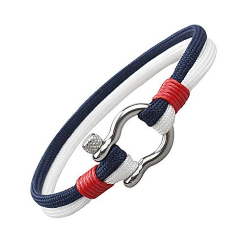 WWDDVH 21cm Camping Fallschirmschnur Survival Armbänder für Frauen Männer Liebhaber Stil Red Rope Armband Schmuck