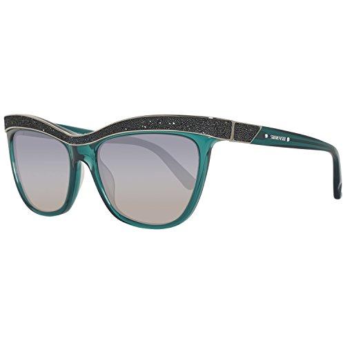 Swarovski Sunglasses Sk0075 96P-55-17-135 Gafas de sol, Azul (Blau), 55 para Mujer