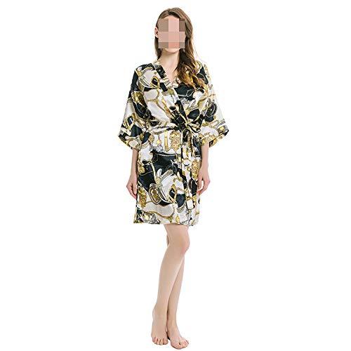 GELU Pijamas De Estilo De Primavera Y Otoo Pijamas De Estilo De Cadena De Servicio De Hogar De Estilo Bizantino Mujer,A-S