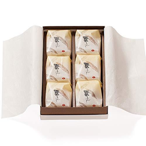 梅林堂 栗まんじゅう6個入《お菓子 和菓子 スイーツ 栗 マロン 焼き菓子 埼玉 土産 ギフト 個包装 高級 老舗 大粒》