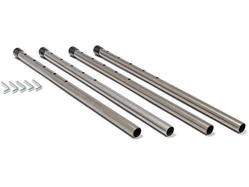Höhenversteller für Tisch E2 von Modulor, Versteller mit Stülpstopfen erhöht die Tischplatte, Lang (bis 22,8 cm) Verstellfüße für Schreibtische, farblos