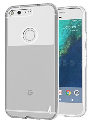 DGtle Anti-Scratches TPU Gel Slim Flexible Soft Bumper Rubber Protective Case for Google Pixel XL - Clear