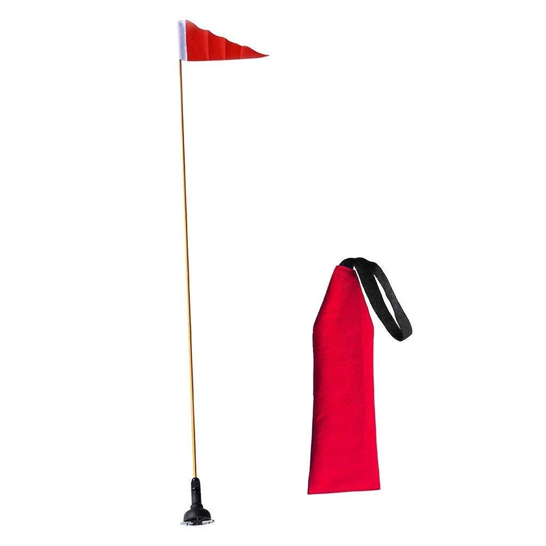 フォアマン待つサーバボートフラグ 安全旗と旗ベース セットカヌー カヤック 信号マーカー セーフティフラッグ アクセサリー バナー ウェビング 収納 便利
