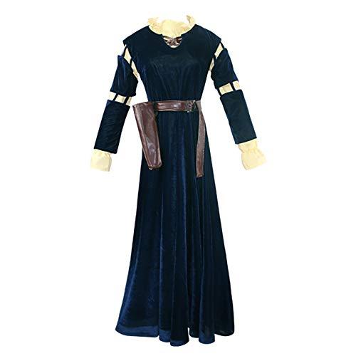 LuBHnna Adult Brave Princess Disfraz de Cosplay Merida Disfraz Disfraz de Halloween Medieval Renacimiento Disfraz