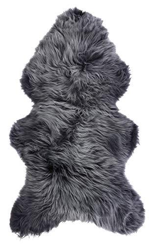 Vogar Genuine Sheepskin Rug with Soft Thick Wool VG-SH020, Grey Blue Breeze 120-130cm
