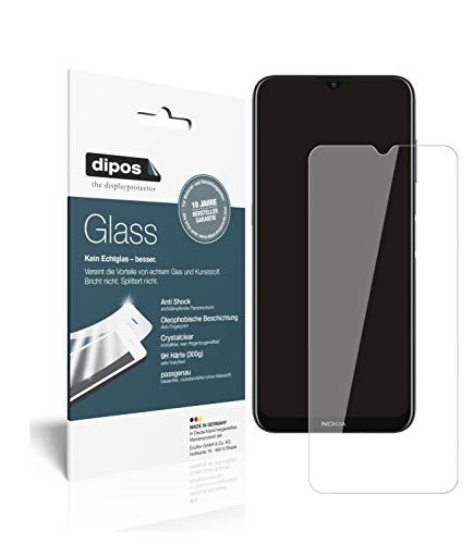 dipos I 2X Panzerfolie klar kompatibel mit Nokia G10 Schutzfolie 9H Bildschirmschutz-Folie (bewusst Kleiner als das Glas, da Dieses gewölbt ist)
